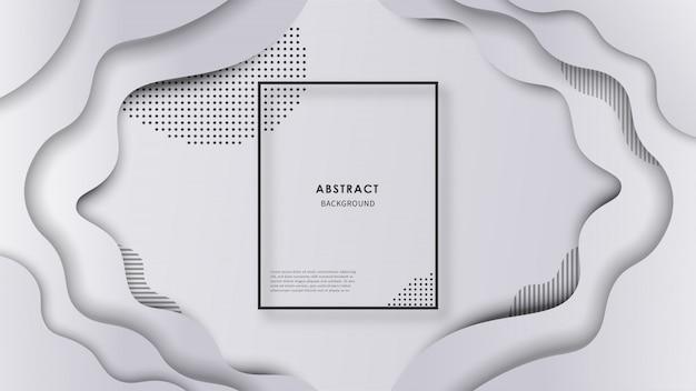 形状と抽象的な波背景