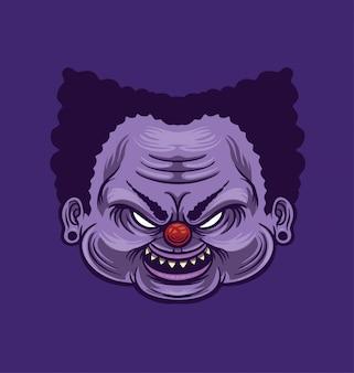 Иллюстрация головы клоуна