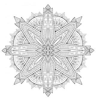 Мандала дизайн украшения. книжка-раскраска для взрослых