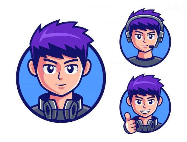 プロゲーマーの男の子のロゴデザイン