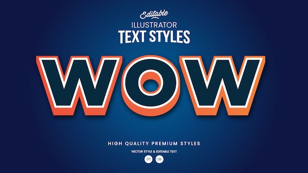 Красочный градиент современный абстрактный редактируемый графический стиль текста эффект