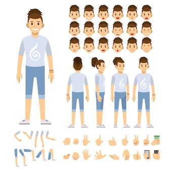 Люди, работающие символ иллюстрации векторной иллюстрации