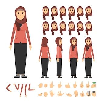アラブ女性キャラクターセット