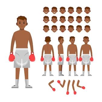 Набор персонажей бокса