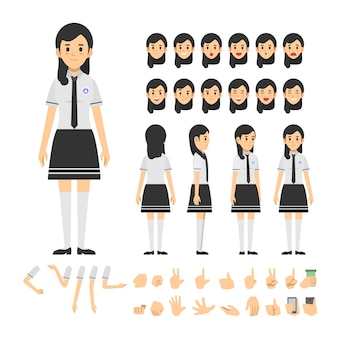Набор школьниц