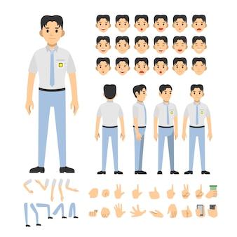 Индонезийский школьный набор символов мальчика