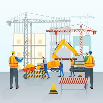 В стадии строительства или обслуживания