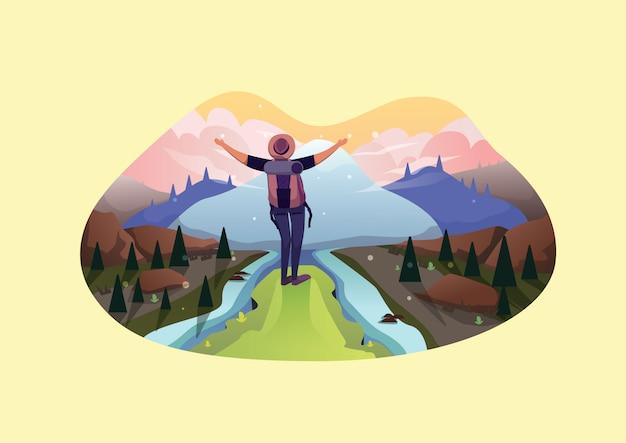 Путешествия веб иллюстрация