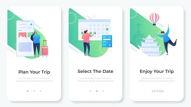 旅行ウェブサイトアプリ