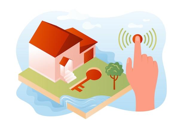 Система безопасности умного дома иллюстрации