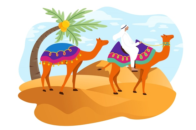アラブの観光客がドバイで歩く