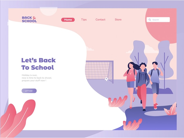 ベクトルのウェブサイトのデザインテンプレート。