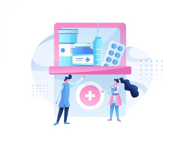 医療イラストチームと健康相談