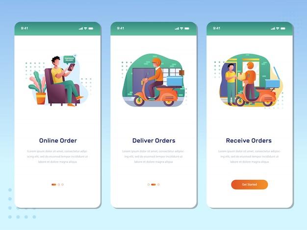 オンライン注文のコンセプトモバイルアプリケーション