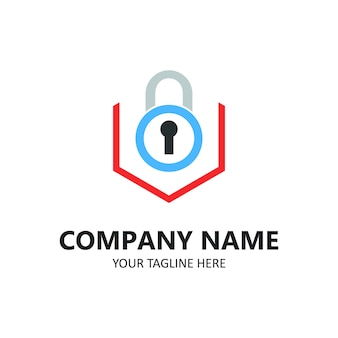 Заблокировать логотип безопасности компании иллюстрации