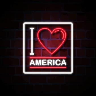 アメリカのネオンサインのイラストが大好き