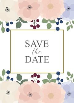 Пригласительные билеты с цветами элементы для свадьбы