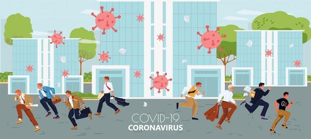 Сезон гриппа, концепция пандемии коронавируса гриппа