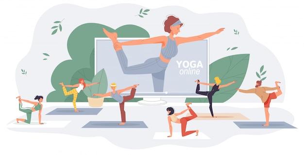 Занятия фитнесом по йоге