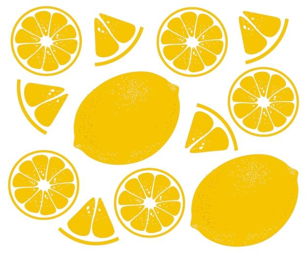 Лимонный узор, цитрусовый фон, простой плоский дизайн,