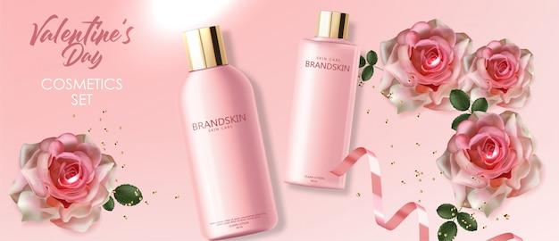 Реалистичная косметика по уходу за кожей, моющее средство розовой упаковки