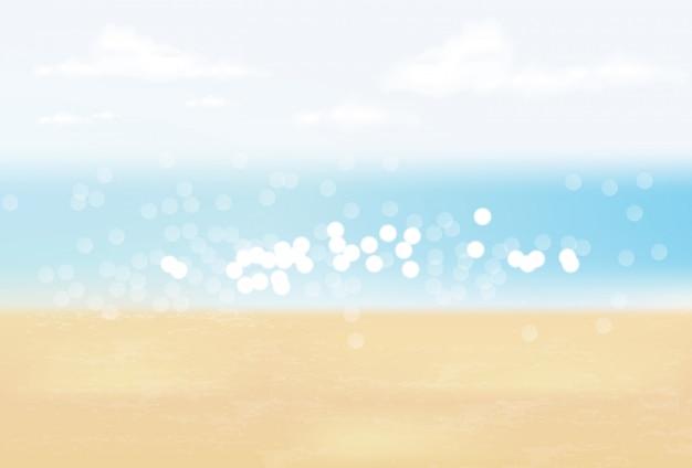 Летний фон, привет лето, красивое море и реалистичное небо, морской пейзаж, реалистичная иллюстрация воды