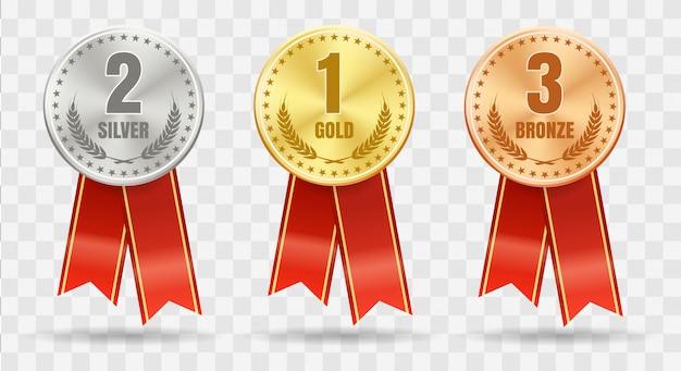 Набор разных медалей