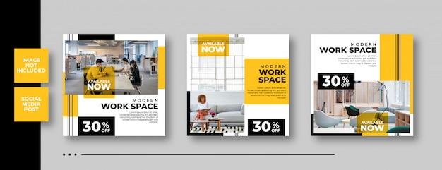 Постер продажи мебели баннер социальной сети