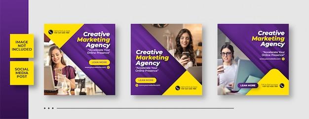 Цифровой бизнес маркетинг социальные медиа пост и веб-баннер