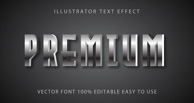 Премиум текстовый эффект полностью редактируемый