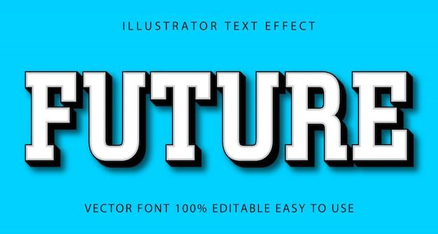 Будущий редактируемый текстовый эффект