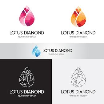 蓮のダイヤモンドのロゴ