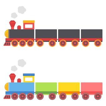 Иллюстрация игрушечных поездов