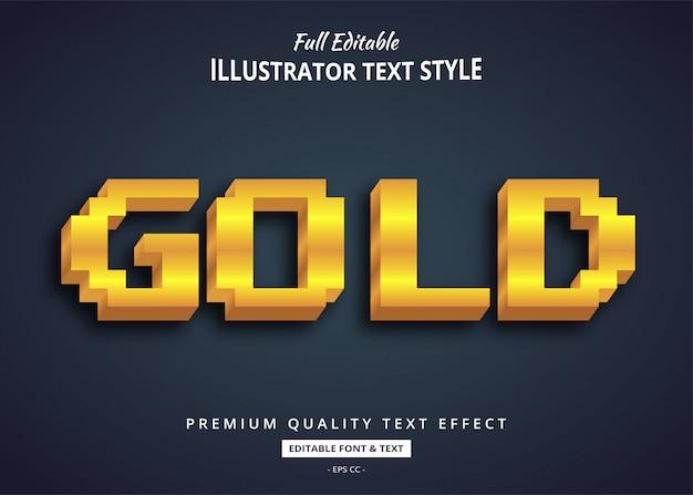 Золотой игровой текстовый эффект