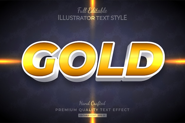 Золотой текст стиль эффект премиум