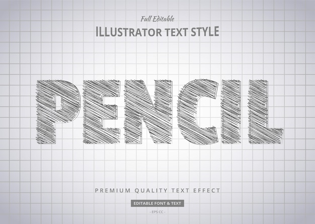 Эскиз стиля текста карандаша