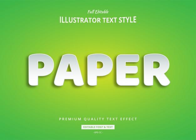 紙のテキスト効果