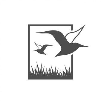 アルバトロス鳥グラフィックデザインテンプレートのベクトル図