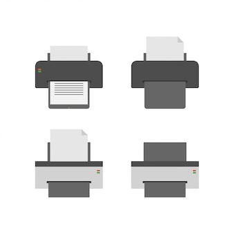 プリンタグラフィックデザインテンプレートのベクトル図