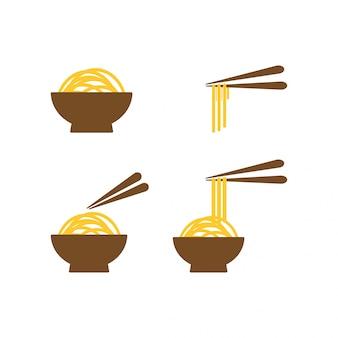 ボウルの麺のコレクション