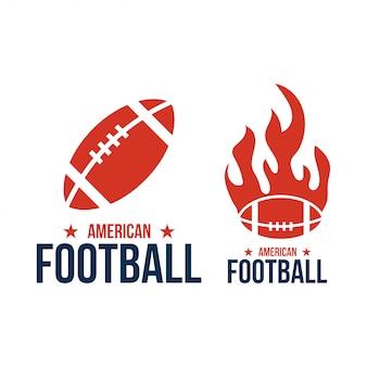 アメリカンフットボールスポーツベクトルグラフィックデザインのインスピレーション