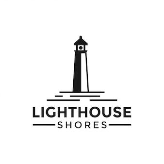 灯台のロゴデザインテンプレートベクトルイラスト