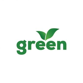 グリーンリーフのロゴデザインテンプレートベクトル分離