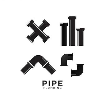 Шаблон графического дизайна сантехники для труб