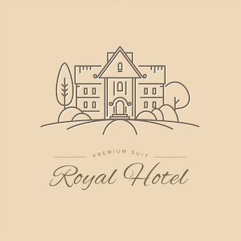 ホテルのロゴのテンプレート。