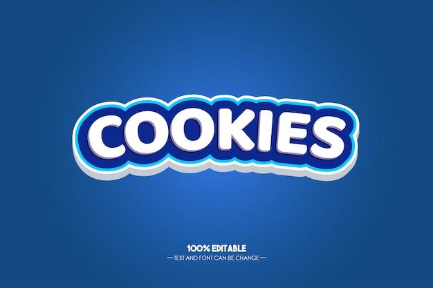 クッキーモダンな青いテキストスタイル