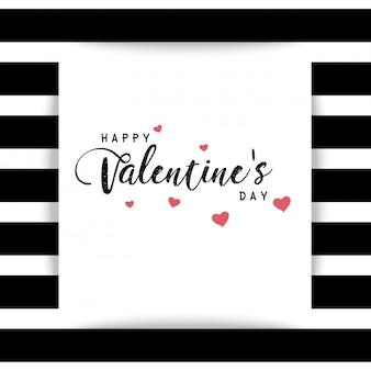 С днем святого валентина текстовое поле черно-белый фон