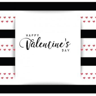 С днем святого валентина текстовое поле розовый белый и черный фон
