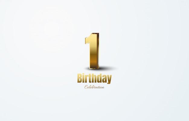 Празднование годовщины с золотыми номерами.
