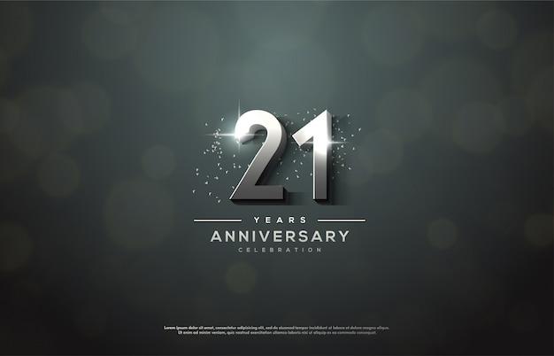 Празднование годовщины с серебряными номерами.